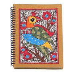 Madhubani Style Blank Handmade Paper Journal