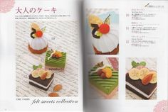 FELT SWEETS COLLECTION - Japanese Craft Book. $19.00, via Etsy.