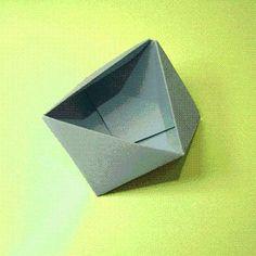DIY Origami Triangle Box DIY Origami DIY Craft