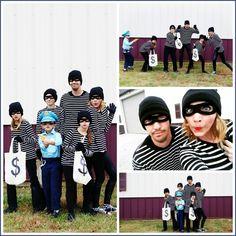 robbers family halloween costume idea