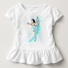 Girl dancing glamor ballet at the time toddler t-shirt - girl gifts special unique diy gift idea