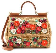 Dolce & Gabbana's 'Miss Sicily' bag inspiration #crochetaccessories
