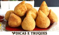 MASSA DE BATATA PARA SALGADINHOS RECEITAS QUE AMO Snack Recipes, Snacks, Cornbread, Sweet Potato, French Toast, Chips, Potatoes, Vegetables, Breakfast
