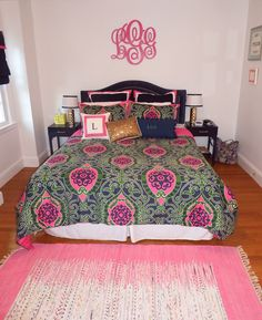 Lilly pulitzer bedding #monogram #bedding #lilly | house goals ...
