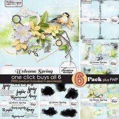 Welcome Spring ~ 6-Pack plus FWP by Tiramisu design