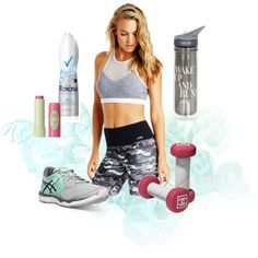 Lorna Jane Camo Workout by hypnotiicstyliing on Polyvore featuring Asics, Pixi and Chanel