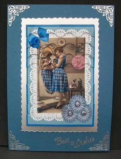 Through the looking glass on Craftsuprint designed by Julie Green - made by Cheryl French - Printed onto glossy photo paper. Matted image onto silver mirri card. Built up with 1mm foam pads. Silver corners and text peel offs added. - Now available for download!