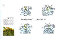 Símbolos de patrones de dos agujas   Crochet y Dos agujas