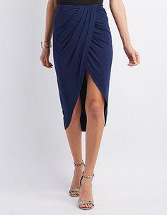 Draped Asymmetrical Skirt: Charlotte Russe