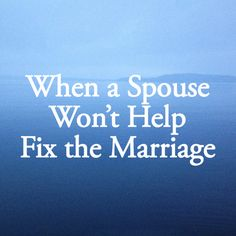 Lisa shares her personal testimony that, yes, it can take two to make a marriage work.
