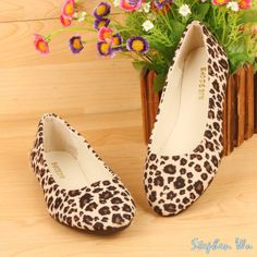 New 2014 top fashion women flats casual flat shoes women boat shoes female leopard printing canvas shoes summer ballet flats-in Boat Shoes f...