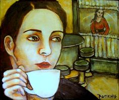 "My painting in tribute to the Suzanne Vega song ""Tom's Diner""....."