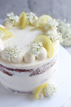 Lemon, Elderflower and White Chocolate Cake — Hannah Bakes Cupcakes, Cupcake Cakes, Beautiful Cakes, Amazing Cakes, Floral Wedding Cakes, Floral Cake, Purple Wedding, Gold Wedding, Cake Recipes