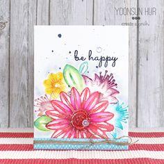 RejoicingCrafts: Create A Smile Botanical Love Stamp Set. #createasmile #watercolor