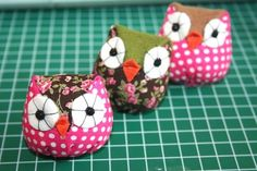 I'm going to make an owl pin cushion. I really am.