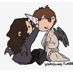 Awww! Meg and Cas!