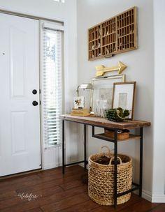 Ikea Vittsjo Hack A Farmhouse Entryway Table | My Fabuless Life | Bloglovin'