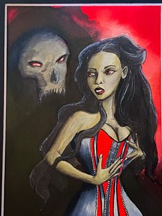 Excited to share this item from my shop: Beauty and Beast PAINTING #darkhomedecor #gothicgiftideas #giftideas Dark Home Decor, Classic Fairy Tales, Jurassic World Fallen Kingdom, Sumi Ink, Falling Kingdoms, Sea Monsters, Cthulhu, Medium Art, Cute Stickers