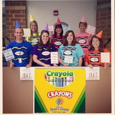 Fun with Book Character Dress Up Day.  We used the book. The Day the Crayons Quit.