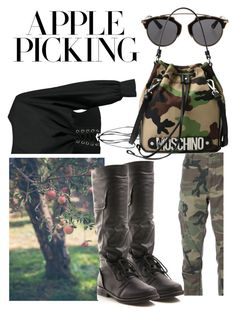 """military lady #military #militarylady #syberia_set #contest #applepicking"" by margosedih ❤ liked on Polyvore featuring RE/DONE, Gomax, Boohoo, Christian Dior and Moschino"