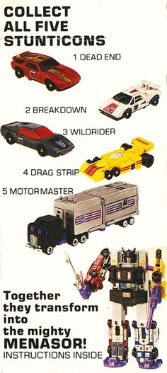 When you're finished playing, make sure you store Motormaster AWAY from the other Stunts. They get enough of his bullying exhaust during the day! Transformers Decepticons, Transformers Toys, Transformers Collection, Gi Joe, Retro Toys, Vintage Toys, Marvel Comics, Original Transformers, Transformers Generation 1