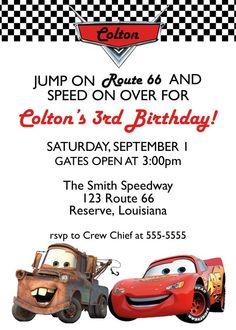 Cars  Birthday Invitation  Printed Invitation by lovebandpdesigns, $10.00