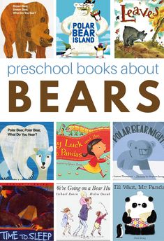 20 Preschool Books About Bears - No Time For Flash Cards