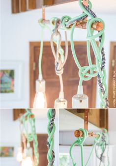 hung! color cord pendant lights