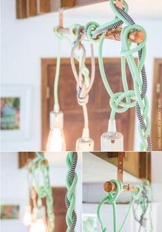 hung! color cord pendant lights