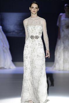 Hermoso estampada el de este vestido de novia Jesús Peiró 2013. Boda elegante, elegant wedding