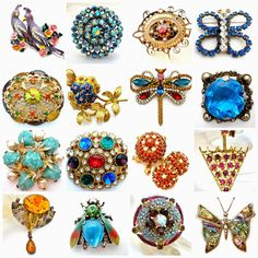 Which is your favorite? The Jewelry Lady's Store: Vintage And Antique Brooches