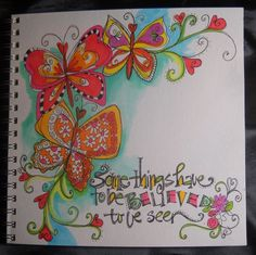 I'm taking an online lettering class with Joanne...I am learning and stepping outside my box in big ways...I love it.
