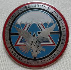 Insigne OBSOLETE GSIGN GENDARMERIE NATIONALE Parachutiste 1990 Boussemart