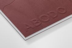 Catalogue design with blind embossed cover and website by Richards Partners for NZ timber specialists Abodo. Book Design, Cover Design, Layout Design, Print Design, Graphic Design, Brochure Cover, Brochure Design, Print Finishes, Catalog Design