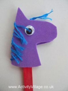 Year of the Horse craft. Pencil topper might be the way to go.