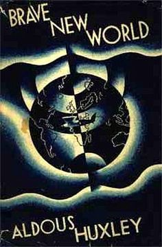 A Brave New World, Aldous Huxley.surprisingly one of the few books I had to read for school that I actually liked I Love Books, Great Books, Books To Read, My Books, Aldous Huxley, Sci Fi Novels, Great Novels, Vintage Book Covers, Brave New World