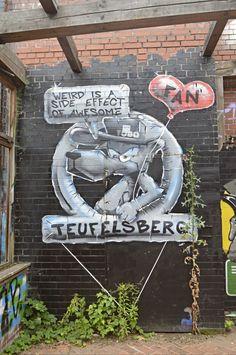 Weird is a side effect of awesome street art by Tobo Berlin #Teufelsberg bekitschig.blog #streetart