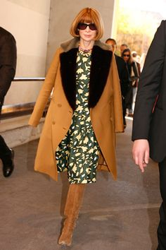 Anna Wintour: All-time idol. Who I want to be when I grow up. I like, wrote a whole paper about her. -Priscilla Copeland