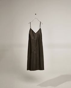 Image 4 of STRAPPY LEATHER STUDIO DRESS from Zara