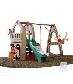 Naturally Playful® Playhouse Climber & Swing Extension