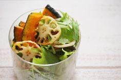 香ばしかぼちゃとレンコンのグリルサラダ