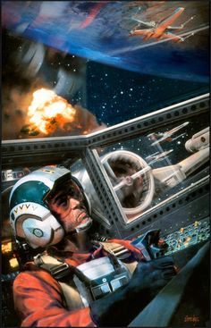 Cover art for 'Rebel Dream' featuring Wedge Antilles, by Dave Seeley