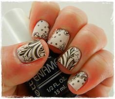 A Girl and Her Polish: The Nail Challenge Collaborative Presents: Black and White - Star Doodles