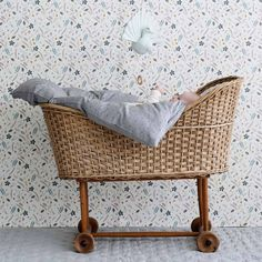 Stunning Danish designed Grey Wave wallpaper by Cam Cam for the nursery or kids room is now available at Designstuff. Mobiles, Minimal Wallpaper, Waves Wallpaper, Pressed Leaves, Baby Mobile, Japanese Patterns, Mint, Architect Design, Danish Design