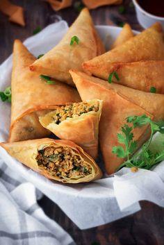 Best Keema Samosa Recipe | Patti Keema Samosa | Cubes N Juliennes Appetizer Recipes, Snack Recipes, Cooking Recipes, Oven Recipes, Noodle Recipes, Turkey Recipes, Potato Recipes, Icing Recipes, Halal Recipes