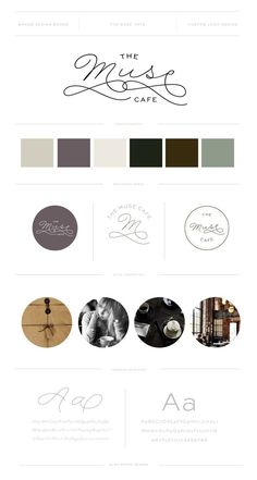 THE MUSE CAFE // Brand and Logo Design by Miss Poppy Design / Coffee Shop / Cafe / Hipster / Modern / Branding / Dapper / Brand Board http://www.misspoppydesign.com