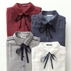 Tie-neckline with flat collar is  #Promod #PromodBoutiqueFrançaise #Style #Fashion