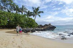 The secret beach in Maui, Hawaii