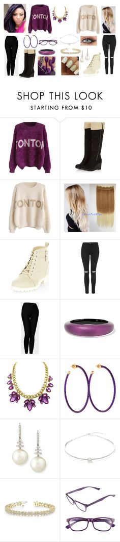 """Opposites of Amazon"" by lunaofthemoon ❤ liked on Polyvore featuring New Look, Topshop, Alexis Bittar, Chantecler, Belpearl, Jack Vartanian, Allurez and Corinne McCormack"