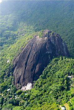 Incredible granite rock formations of Mahe, Seychelles